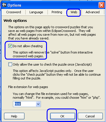опции web